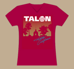 Ladies Vintage Red Hotel California T-Shirt