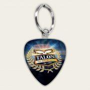 Talon Plectrum Keyring Visual-cream